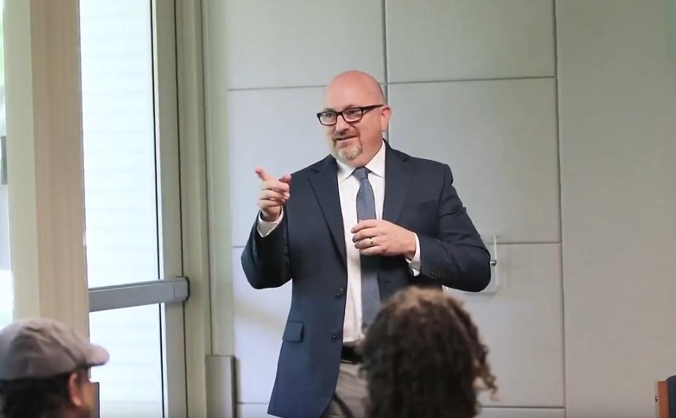 Scott Gregory speaking